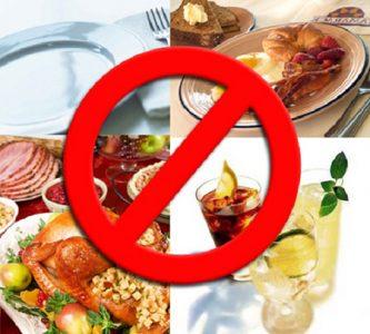 Диета при болезнях почек, запрещённые продукты